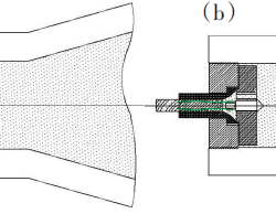 Schematic diagrams of forming principles of rods with helical holes