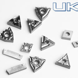 In order to achieve high surface finish of steel parts, cermet inserts are a good choice.